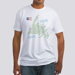 Newfoundland Towns Fitted T-Shirt