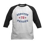 Addicted to Physics Kids Baseball Jersey