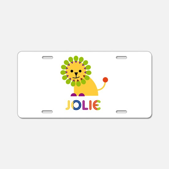 Jolie the Lion Aluminum License Plate