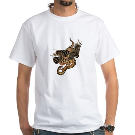 1920's Eagle & Snake White T-Shirt