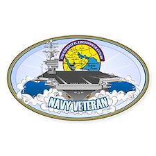 CVN-69 Persian Gulf Sticker (Oval)