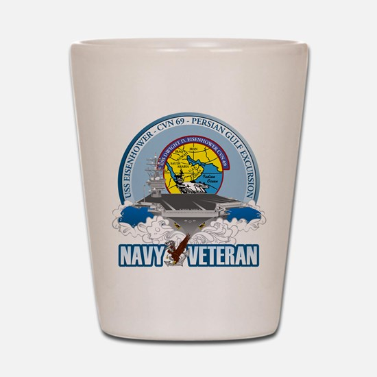 CVN-69 Persian Gulf Shot Glass