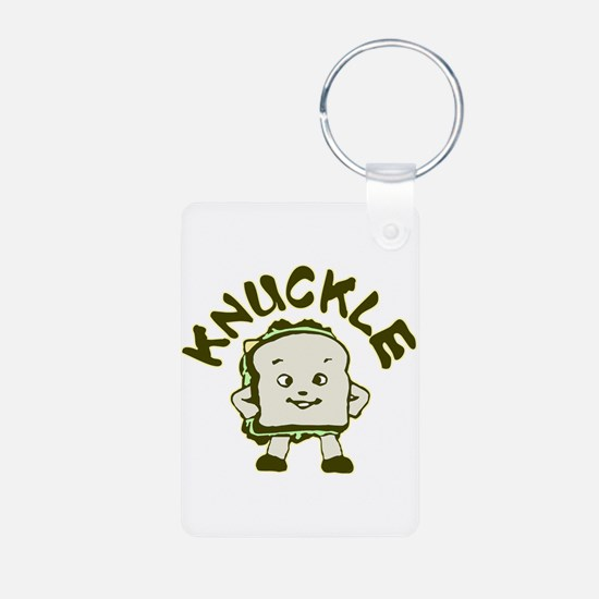 Funny Knuckle Sandwich Aluminum Photo Keychain