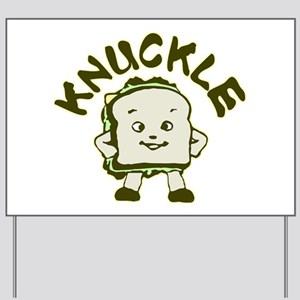 Funny Knuckle Sandwich Yard Sign