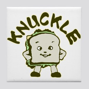 Funny Knuckle Sandwich Tile Coaster