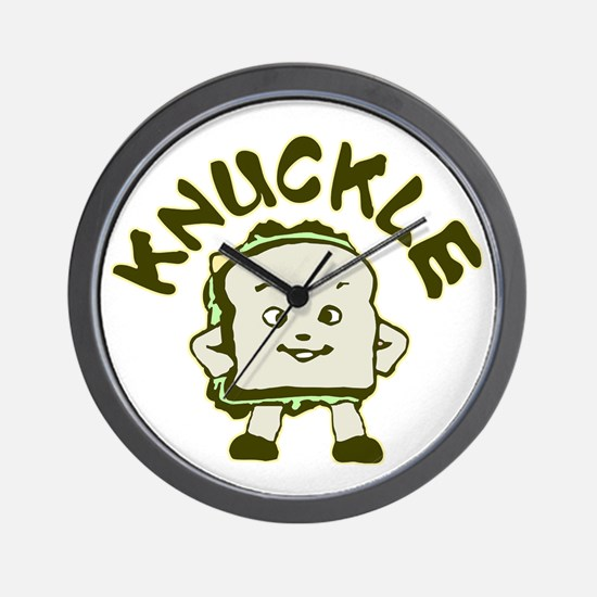 Funny Knuckle Sandwich Wall Clock