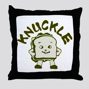 Funny Knuckle Sandwich Throw Pillow