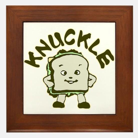 Funny Knuckle Sandwich Framed Tile