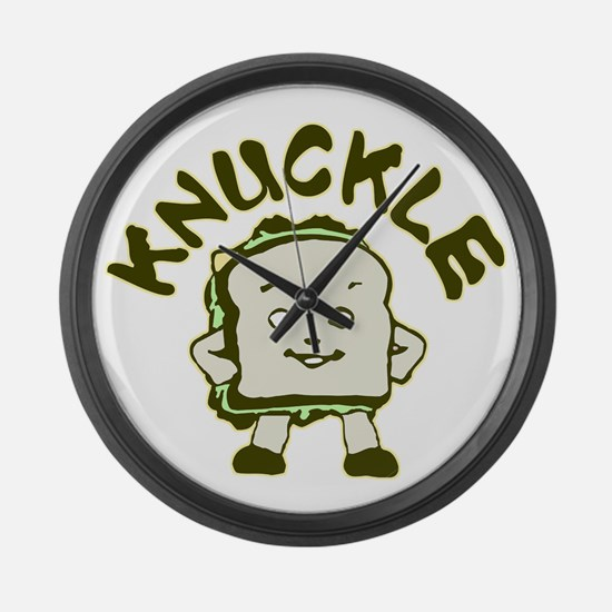 Funny Knuckle Sandwich Large Wall Clock