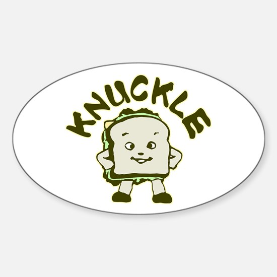 Funny Knuckle Sandwich Sticker (Oval)