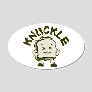 Funny Knuckle Sandwich 22x14 Oval Wall Peel