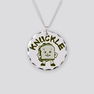 Funny Knuckle Sandwich Necklace Circle Charm