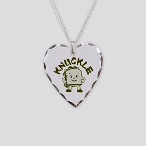 Funny Knuckle Sandwich Necklace Heart Charm