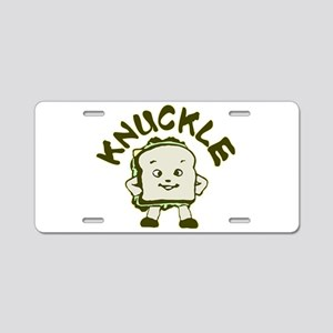 Funny Knuckle Sandwich Aluminum License Plate