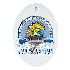 CVN-69 Persian Gulf Ornament (Oval)