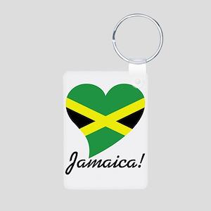 Heart Jamaica (World) Aluminum Photo Keychain