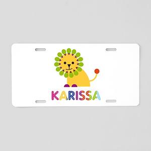 Karissa the Lion Aluminum License Plate
