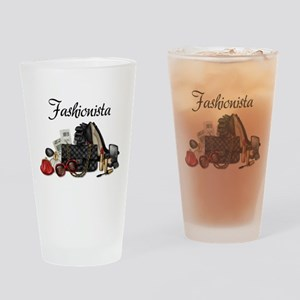 Fashionista Drinking Glass
