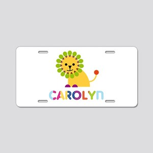 Carolyn the Lion Aluminum License Plate
