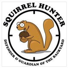 Squirrel Hunter Poster