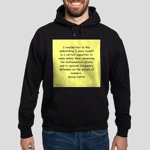 Georg Cantor quote Hoodie (dark)