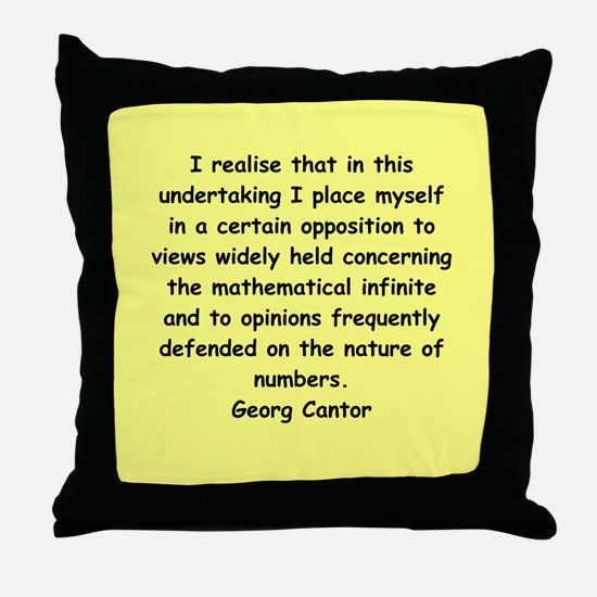 Georg Cantor quote Throw Pillow