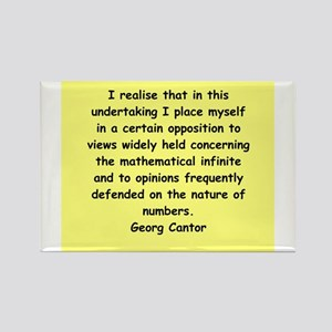 Georg Cantor quote Rectangle Magnet