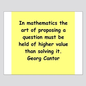 Georg Cantor quote Small Poster