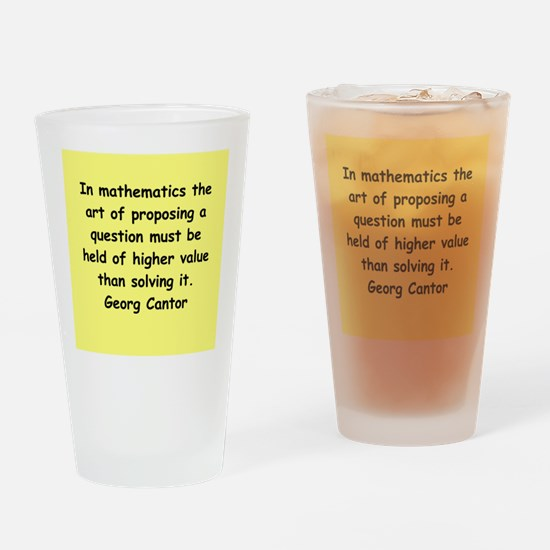 Georg Cantor quote Drinking Glass