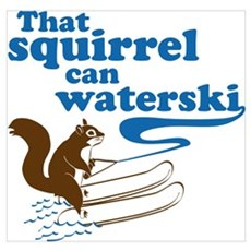 That Squirrel Can Waterski Poster