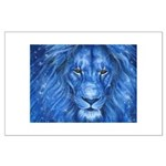 Winter Lion Large Poster
