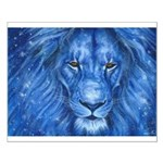 Winter Lion Small Poster