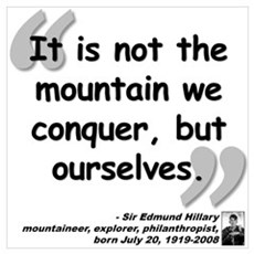 Hillary Conquer Quote Poster