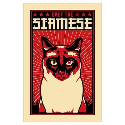 SIAMESE Cat Dictator Poster