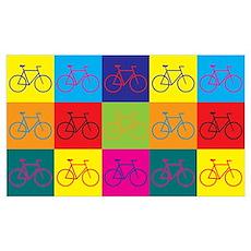 Bicycling Pop Art Poster
