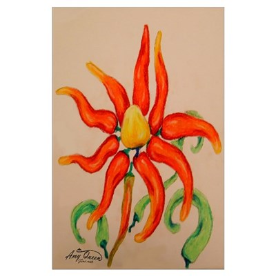 Hot Pepper Lily Poster