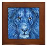 Winter Lion Framed Tile