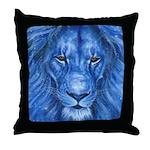 Winter Lion Throw Pillow