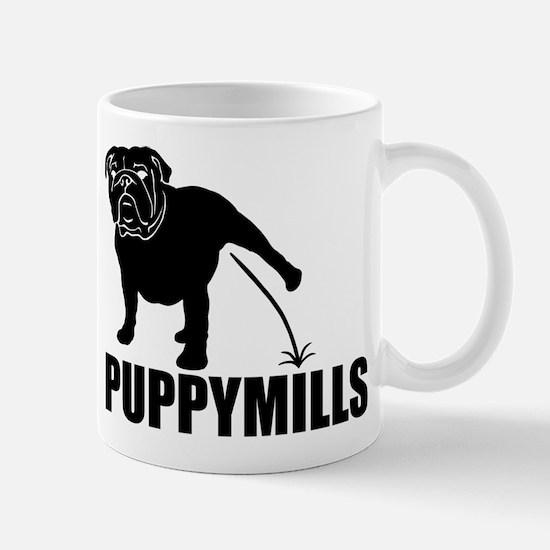 BULLDOG [pee on] PUPPYMILLS Mug