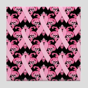 Everyday Pink Ribbon Tile Coaster