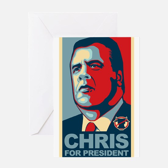 Christie For President Greeting Card