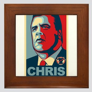 Christie For President Framed Tile