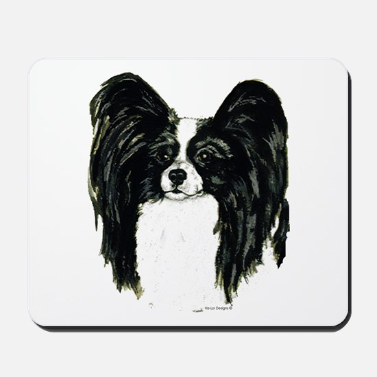 Papillon Pap Portrait Mousepad