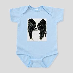 Papillon Pap Portrait Infant Creeper