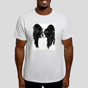 Papillon Pap Portrait Ash Grey T-Shirt