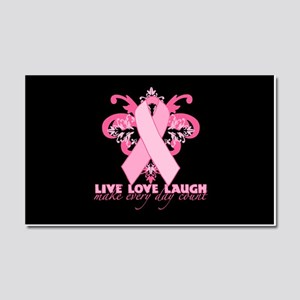 Everyday Pink Ribbon Car Magnet 20 x 12