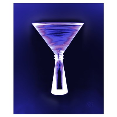 Wedged Martini Glass Poster