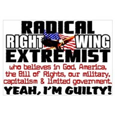 """Right Wing Extremist"" Framed Print"
