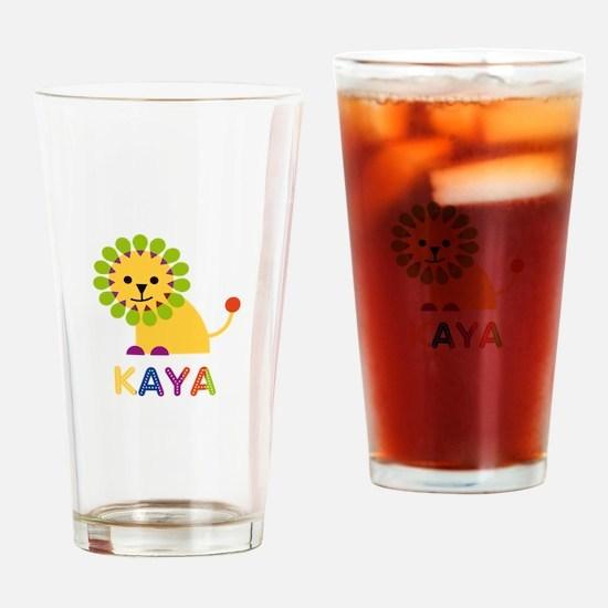 Kaya the Lion Drinking Glass