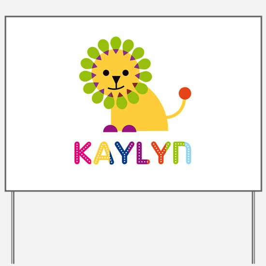 Kaylyn the Lion Yard Sign